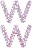 Maze letter W