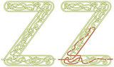 Maze letter Z