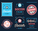 Colored football badge set number one