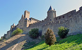 Carcassonne medieval city in France