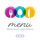 Abstract restaurant menu logo design