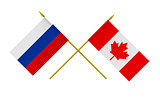 Flags, Canada and Russia