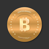 Bitcoin golden icon