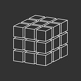 cubes simple logo concept