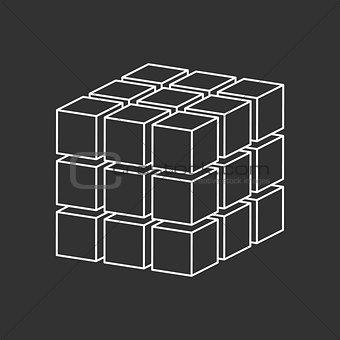 cubes simple logo concept