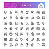 Future Line Icons Set