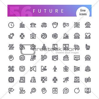 Future Line Icons Set