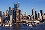 Midtown Manhattan cityscape from Hudson River