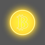 Bitcoin physical bit coin digital currency cryptocurrency golden coin with bitcoin symbol