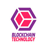 Blockchain technology - vector logo template concept illustration. Abstract geometric business sign. Digital crypto currency creative icon. Graphic design element. EPS 10