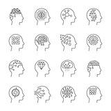 Artificial intelligence icons set. Editable Stroke