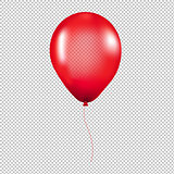 Red Balloon Isolated Transparent Background