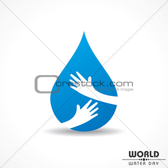 Save Nature Concept - World Water Day