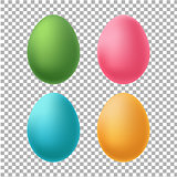 Color Eggs Set Transparent Background
