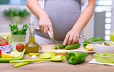 Healthy nutrition of pregnant woman