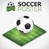 Isometric Soccer Field and Ball