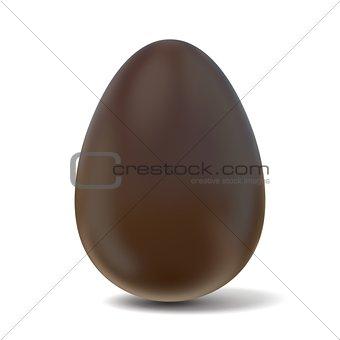 Chocolate egg. 3D