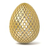 Gold perforated egg ornament. 3D