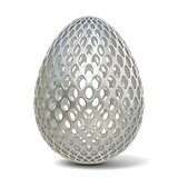 Silver perforated egg ornament. 3D