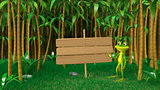 3D Frog Illustrations in the Jungle
