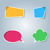 Speech bubbles icon. Dialog box info.