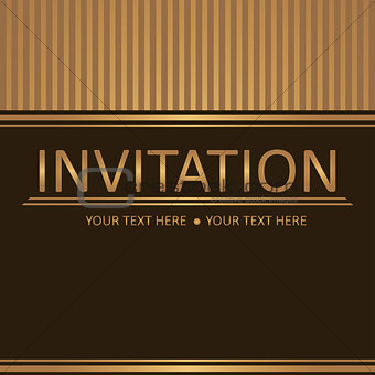 Art brown golden background, invitation card