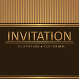 Art brown golden background, invitation card