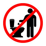 prohibits throwing paper in the toilet
