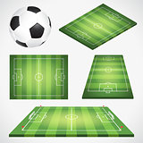 Soccer Football Field and Ball