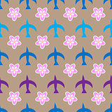 Birds seamless pattern.