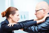 Man vs woman office fighting in office