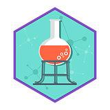 Chemical laboratory tube tripod