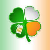 St Patricks's shamrock and beer glass