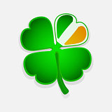 St Patricks's shamrock on white background