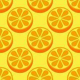 Orange fruit seamless bright pattern