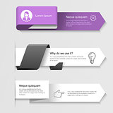 Modern infographic arrows - options or step by step infographics