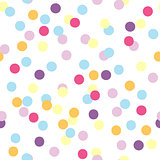 Seamless vector pattern of colorful party confetti