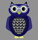 cartoon owl wearing glasses