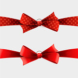 Red polka dot bow and ribbon