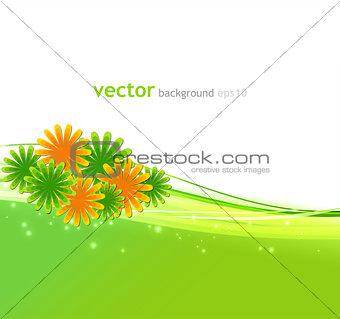 Beautiful vector flowers