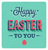 Happy Easter Day vintage greeting card.