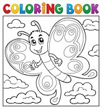 Coloring book happy butterfly topic 3