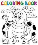 Coloring book ladybug theme 5