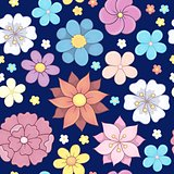 Seamless background flower theme 6