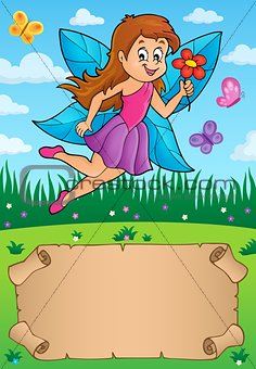 Small parchment with fairy