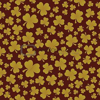 Three leaf clover seamless background 7