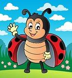 Waving ladybug theme image 2
