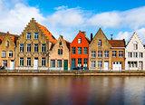 Bruges (Brugge), Belgium: Colored brick houses