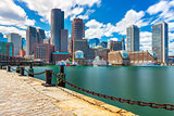 Boston cityscape in sunny day, USA