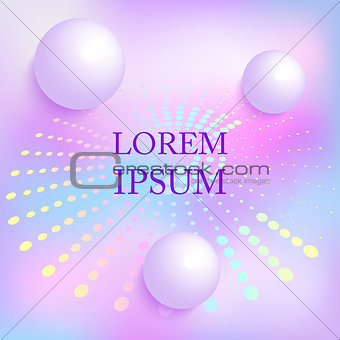3d balls on holographic background
